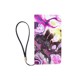 Colorful Marble Design Men's Clutch Purse (Model 1638)