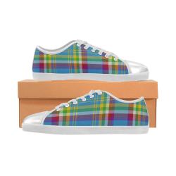 Yukon Tartan Canvas Kid's Shoes (Model 016)
