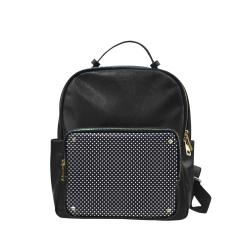Black polka dots Campus backpack/Large (Model 1650)