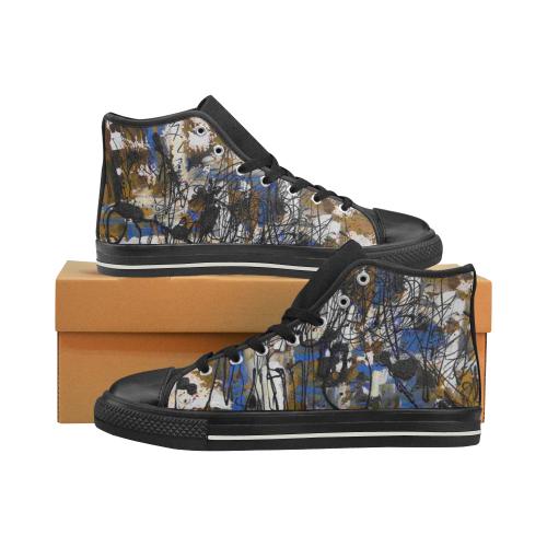 Dreams I Women's Classic High Top Canvas Shoes (Model 017)