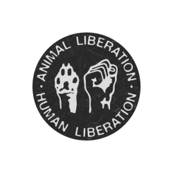 Animal Liberation, Human Liberation Round Mousepad