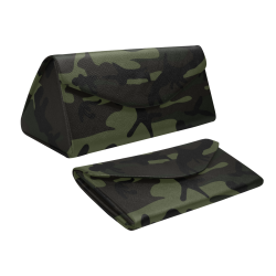 Camo Green Custom Foldable Glasses Case