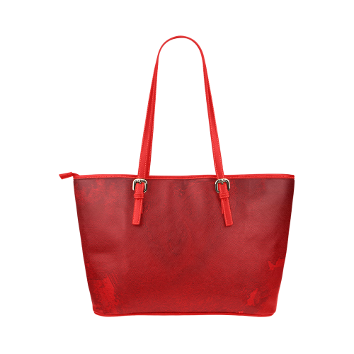 PASSION FOR LIFE NO MATTER WHAT Leather Tote Bag/Large (Model 1651)