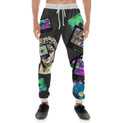 Cassette Pants Men's All Over Print Sweatpants (Model L11)