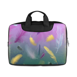 """Dancing Feathers - Pink and Green Macbook Air 15""""(Twin sides)"""