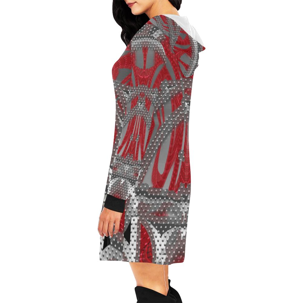 5000xart 13 All Over Print Hoodie Mini Dress (Model H27)