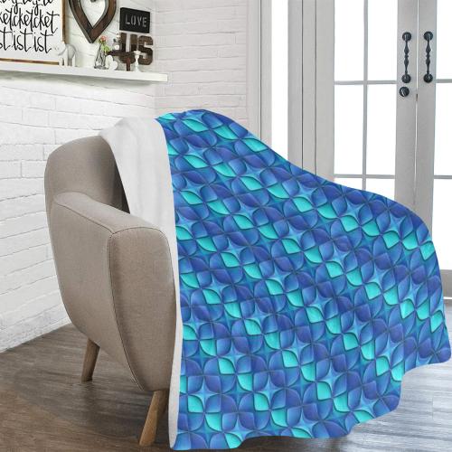 Blue shades abstract Ultra-Soft Micro Fleece Blanket 54''x70''
