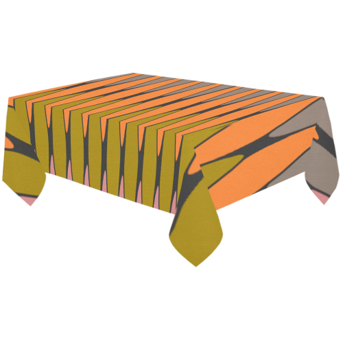 "zappwaits-02 Cotton Linen Tablecloth 60""x120"""