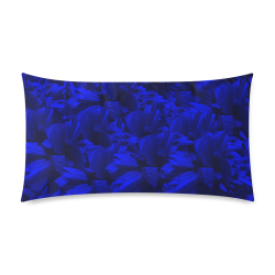 "A202 Rich Blue and Black Abstract Design Rectangle Pillow Case 20""x36""(Twin Sides)"