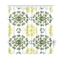 "greek ornament Shower Curtain 69""x72"""