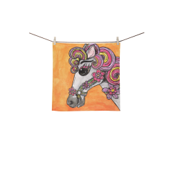 """Carousel Horse Washer Square Towel 13""""x13"""""""