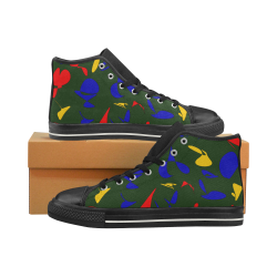 zappwaits g4 Men's Classic High Top Canvas Shoes (Model 017)