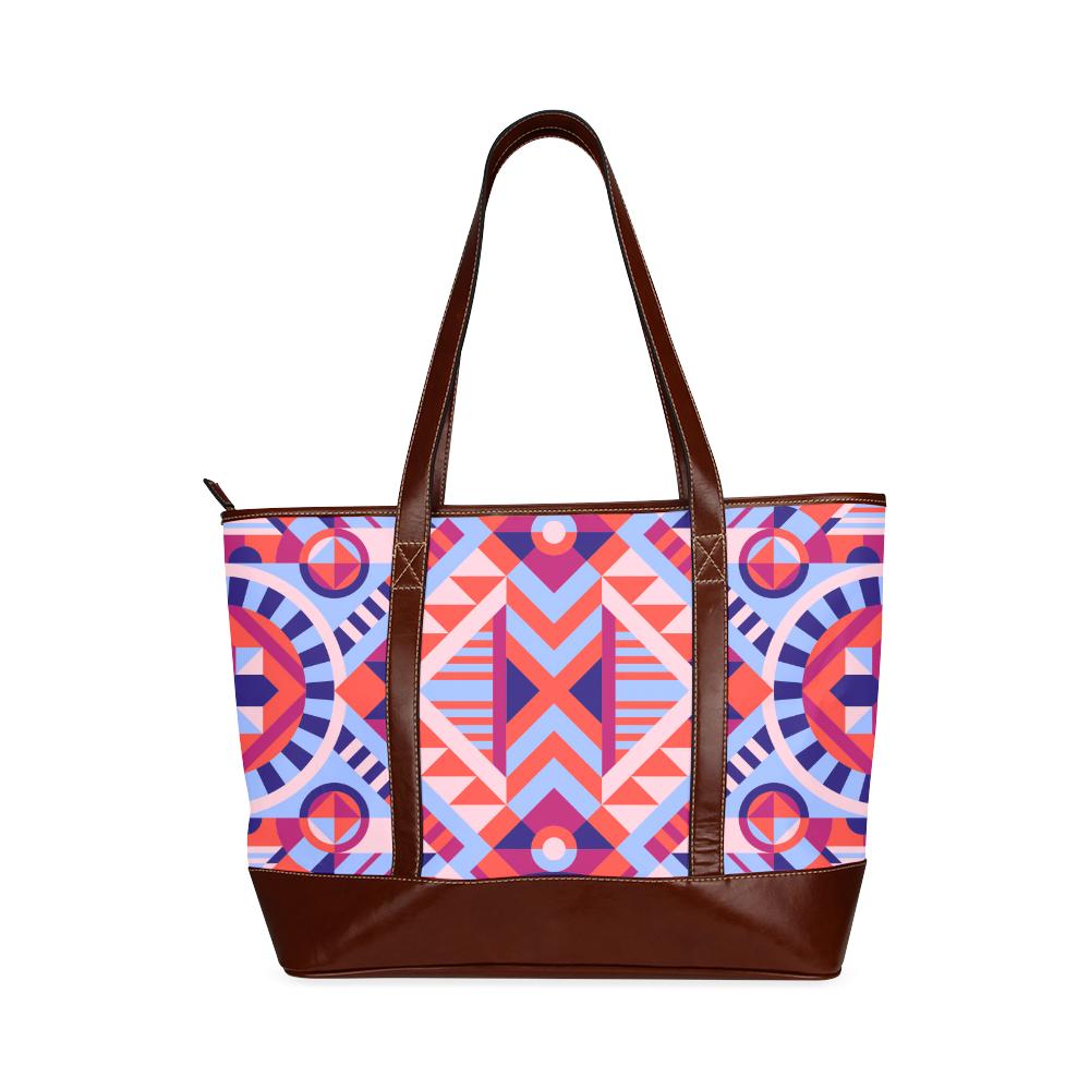 Modern Geometric Pattern Tote Handbag (Model 1642)