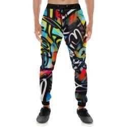 Streetart Chaos Men's All Over Print Sweatpants (Model L11)