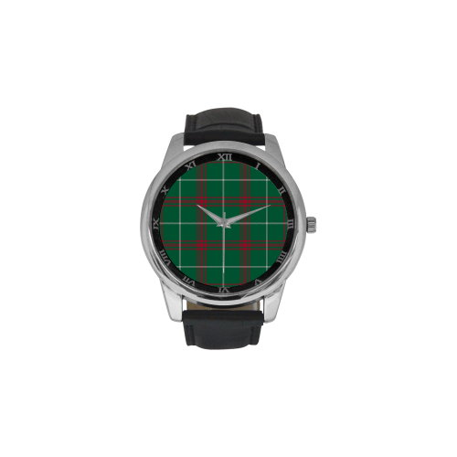 Welsh National Tartan Men's Leather Strap Large Dial Watch(Model 213)
