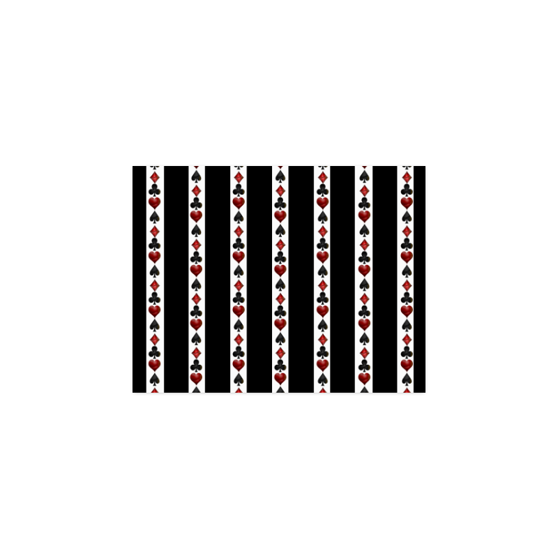"""Playing Card Symbols Stripes Poster 11""""x8.5"""""""