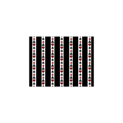 "Playing Card Symbols Stripes Poster 11""x8.5"""