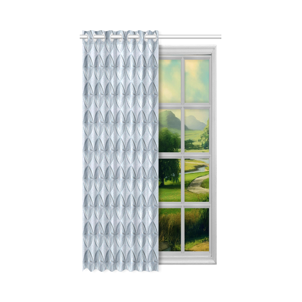 """Glass pattern on a marble background New Window Curtain 52"""" x 63""""(One Piece)"""