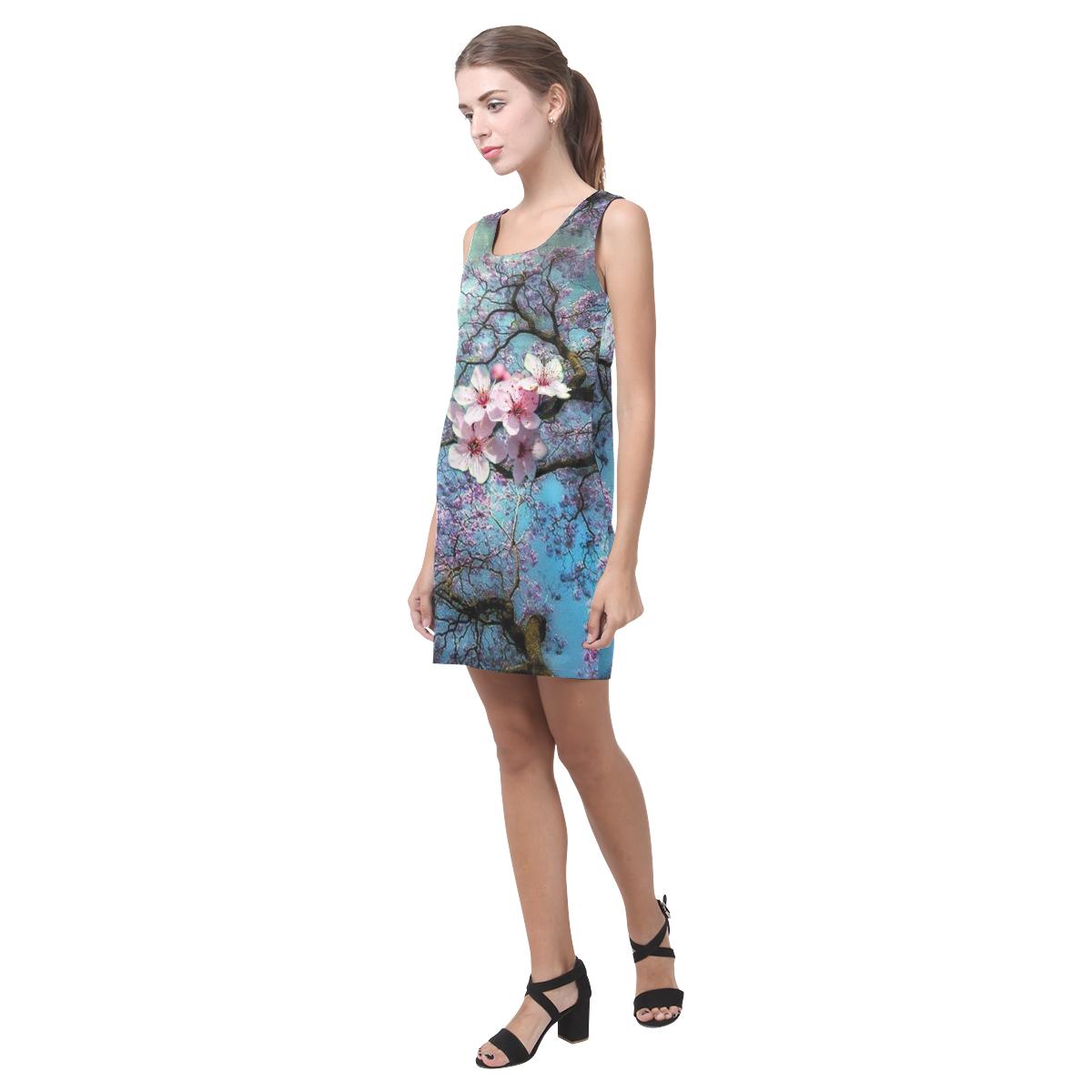 Cherry blossomL Helen Sleeveless Dress (Model D10)