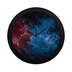 Alien Swirl Blue Red. Circular Plastic Wall clock