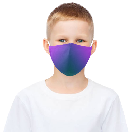 Plush Peacock Ombre 3D Mouth Mask with Drawstring (Model M04)