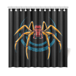 "Giant Spider Shower Curtain Shower Curtain 72""x72"""