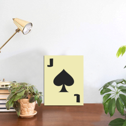 """Playing Card Jack of Spades on Yellow Photo Panel for Tabletop Display 6""""x8"""""""