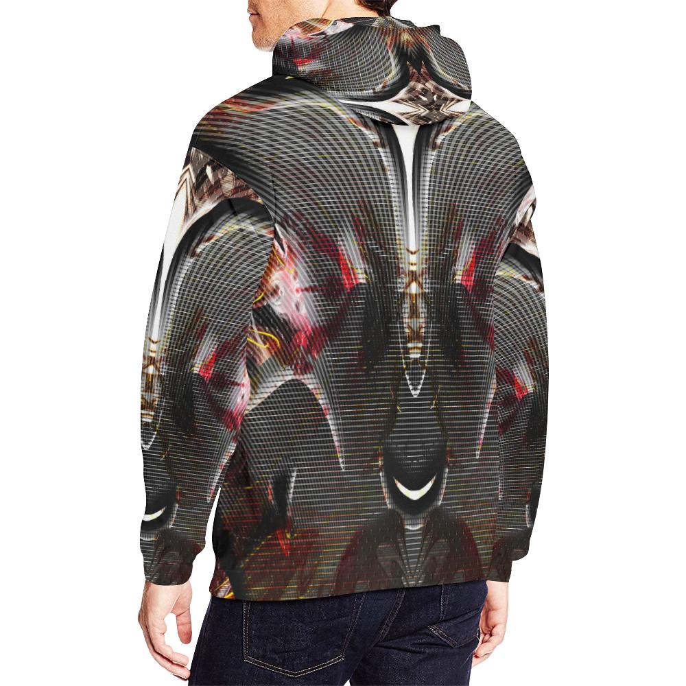 xxsml Alien Rabbit Crew All Over Print Hoodie for Men/Large Size (USA Size) (Model H13)