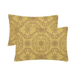 """floral damask Custom Pillow Case 20""""x 30"""" (One Side) (Set of 2)"""