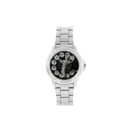 Please Wait for the Dial Tone Unisex Stainless Steel Watch(Model 103)