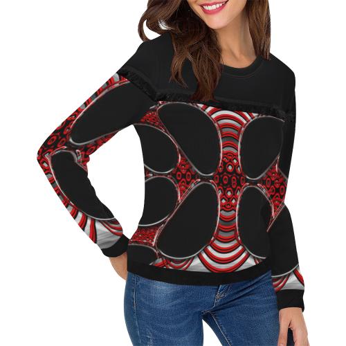 abstract_5500_2019_RBW_96h Women's Fringe Detail Sweatshirt (Model H28)