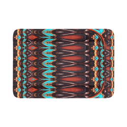 """K172 Wood and Turquoise Abstract Pet Bed 54""""x37"""""""