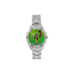 Weed - Hear or Somewhere Men's Stainless Steel Analog Watch(Model 108)