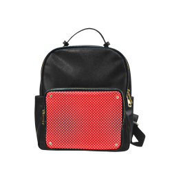 Red polka dots Campus backpack/Large (Model 1650)