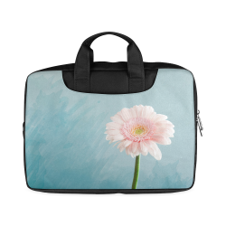 "Gerbera Daisy - Pink Flower on Watercolor Blue Macbook Air 15""(Twin sides)"