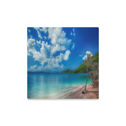 "Beach Escape Canvas Print 16""x16"""