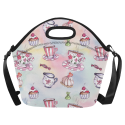 Coffee and sweeets Neoprene Lunch Bag/Large (Model 1669)