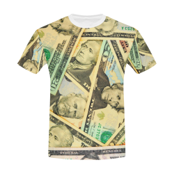 US DOLLARS All Over Print T-Shirt for Men/Large Size (USA Size) Model T40)