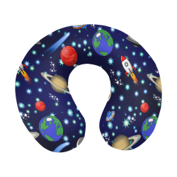 Galaxy Universe - Planets,Stars,Comets,Rockets U-Shape Travel Pillow