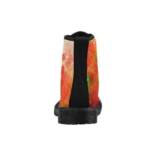somefire Martin Boots for Men (Black) (Model 1203H)