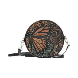 Monarch Collage Round Sling Bag (Model 1647)