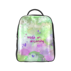KEEP ON DREAMING - lilac and green Popular Backpack (Model 1622)