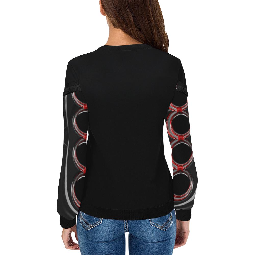 abstract_5500_2019_RBW_75h Women's Fringe Detail Sweatshirt (Model H28)