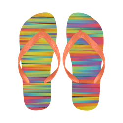 Rainbow Swirl Flip Flops for Men/Women (Model 040)