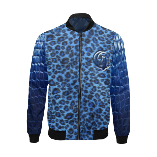 TIGER SKIN CROCO All Over Print Bomber Jacket for Men (Model H19)