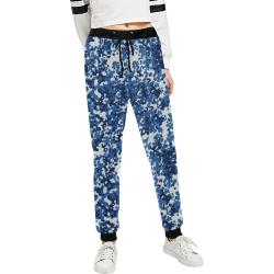 Digital Blue Camouflage Unisex All Over Print Sweatpants (Model L11)