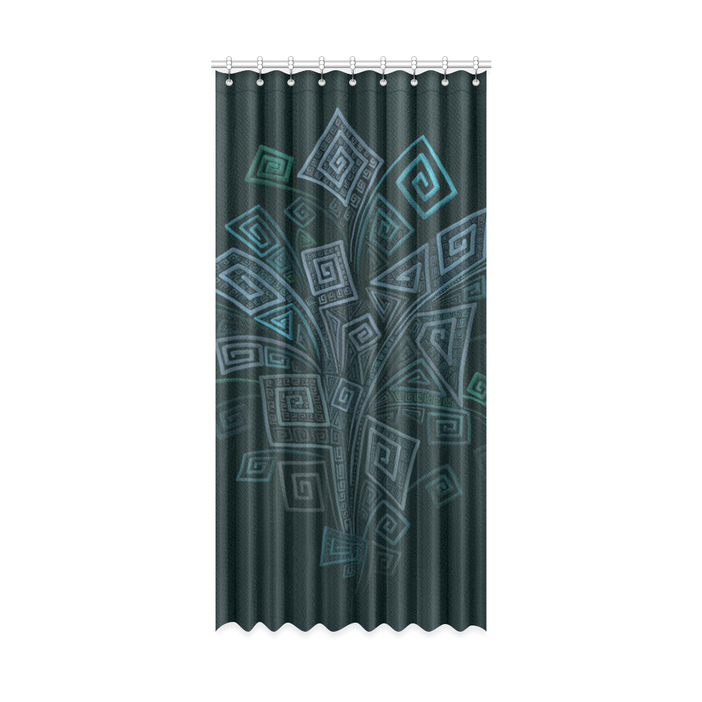 """3D Psychedelic Abstract Square Explosion Window Curtain 52"""" x 108""""(One Piece)"""