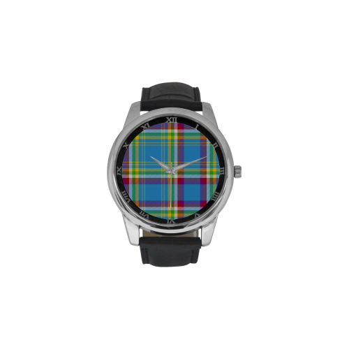 Yukon Tartan Men's Leather Strap Large Dial Watch(Model 213)