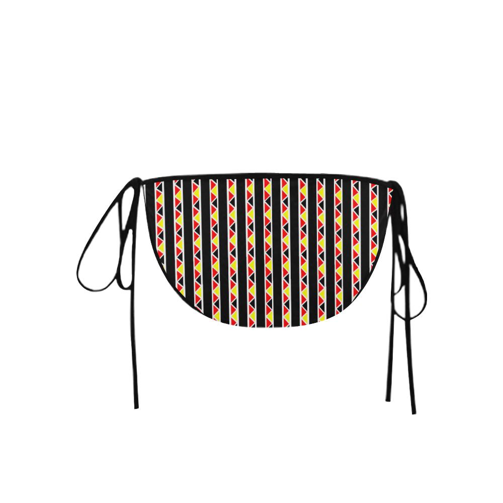 Kente Stripes Custom Bikini Swimsuit Bottom