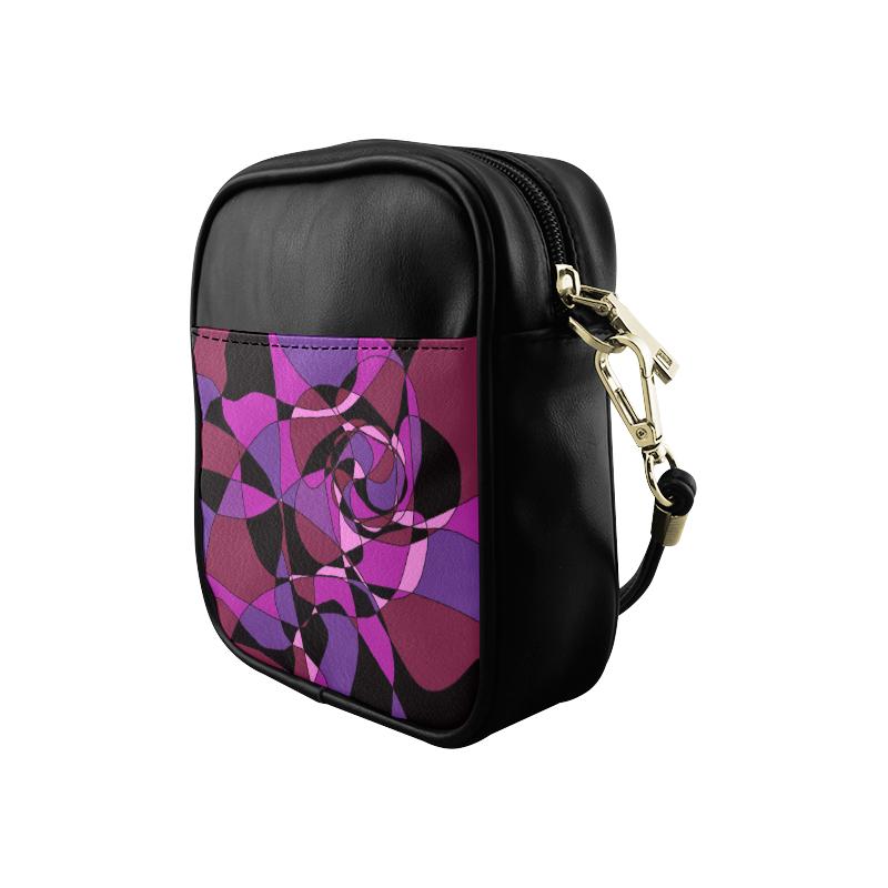 Abstract Design #6 Sling Bag (Model 1627)